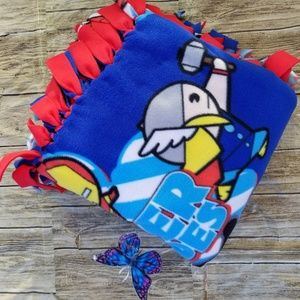 Kawaii Super Heroes Fleece Blanket No Sew 54x60